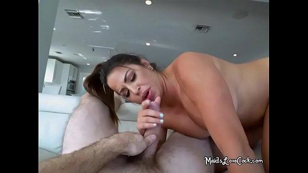 Curvy Maid Julianna Vega Gets Humped And Facialized