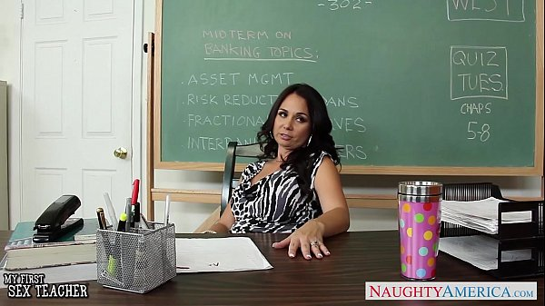 Busty teacher Holly West fuck in classroom  thumbnail