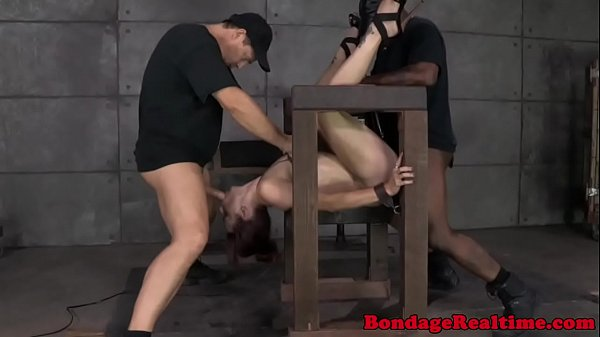 BDSM fetish Bella Rossi gets destroyed
