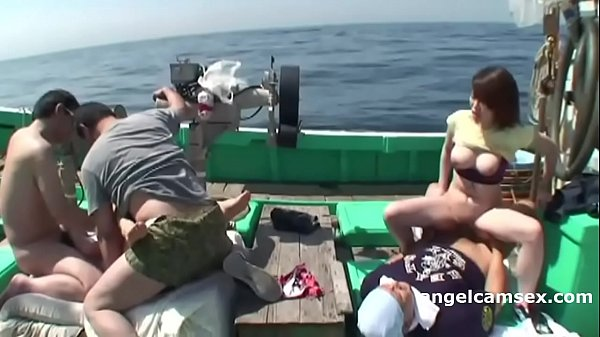 Gang bang on their Japanese trawler Watch live part02 on angelcamsex.com