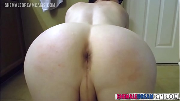 Natalie Mars Stuffing Her Ass With A Giant Dildo - Shemaledreamcams.com