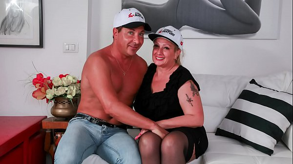 SCAMBISTI MATURI – Italian BBW blonde newbie Monica Dolce gets her juicy pussy drilled deep