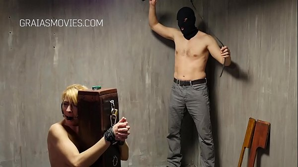 Nice blonde bitches screams while whipped