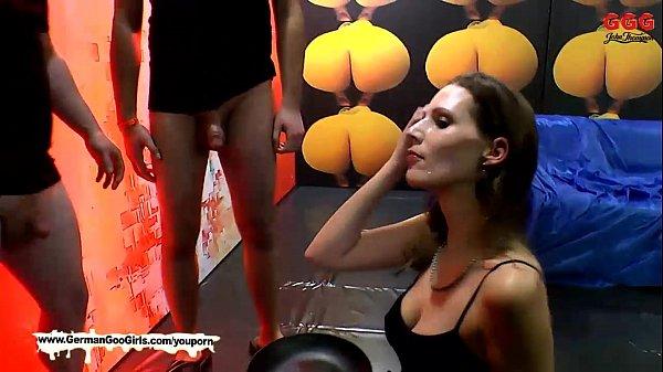German Goo Girls! – Viktoria is back for more bukkake action!
