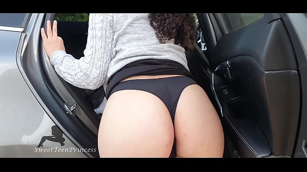 I WAS TOO HORNY WITH MY TINDER DATE WE WERE BEING VOYEUR SO I DECIDED TO GO IN THE CAR AND PLAY WITH MY DILDO