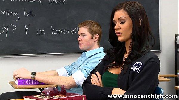 InnocentHigh Bigtits schoolgirl Kendall Karson fucked horny classmate Thumb
