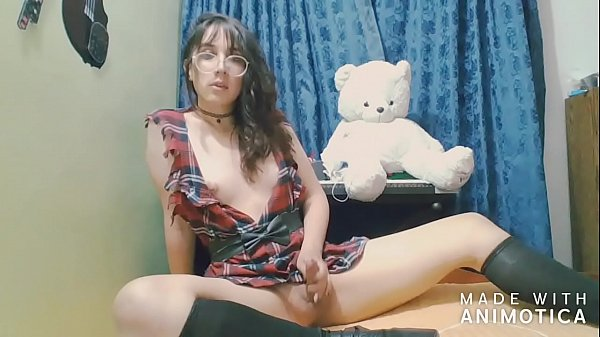 Beautiful and young Colombian shemale jerking off 2 – Angeles del Mar
