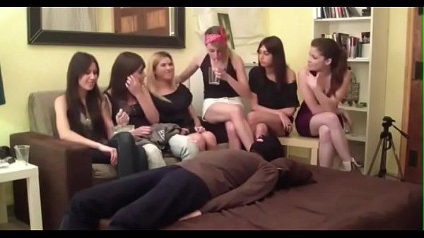 Girl rubs cocks against each other