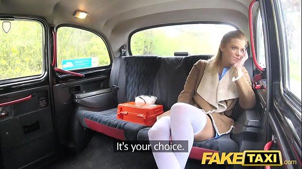 Fake Taxi Nurse in sexy lingerie has car sex Thumb