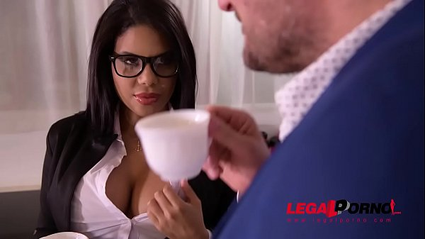 Busty secretary Kesha Ortega gets her Latina tits & pussy fucked at office GP806