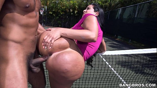 Getting Black Cock on the tennis court Thumb