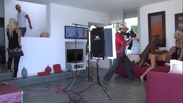 A makeup artist gets fucked on a porn film set by an actor