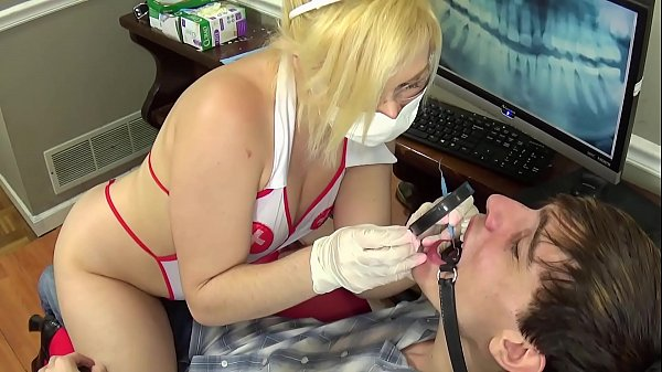KIM STROKER is a nurse who takes care of the patient's cock