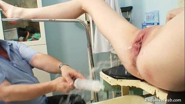 Gynecological pussy exam of naturaly big tits blonde Thumb