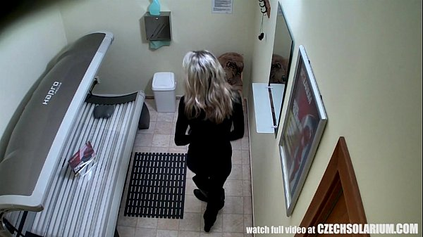 Blonde Girl Caught is Solarium Thumb