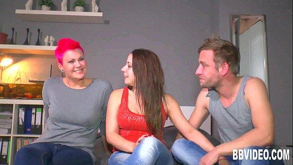 German cuties sharing a hard dick