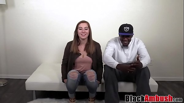 Busty chubby amateur takes her first BBC on cas...