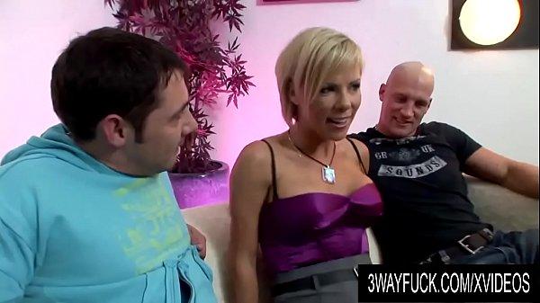 3 Way Fuck - Busty Blonde MILF Kayla Synz in a Hot MMF Threesome
