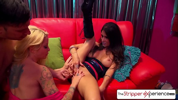 The Stripper Experience - Jessica Jaymes & Helly Hellfire fucking a big dick, big boobs and big booty