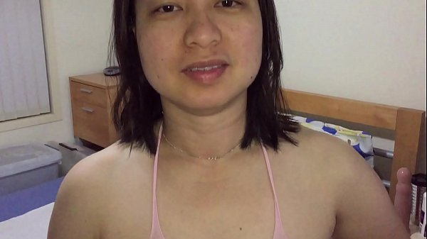 Asian MILF - Pussy Playing For XVideos Fans in Pink Body Stockings