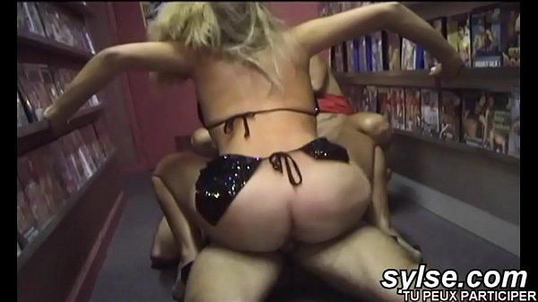2 horny moms in sexshop