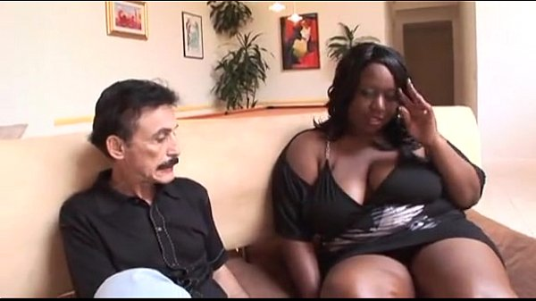 Black whore and a white man fucking
