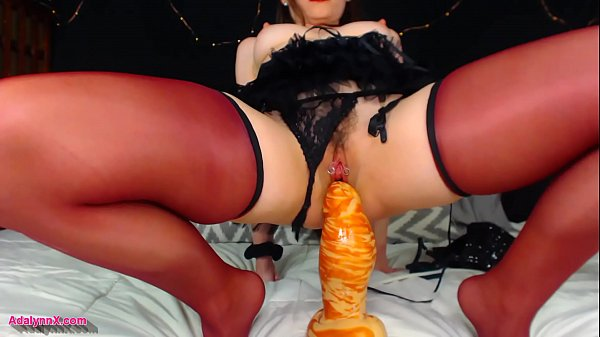 AdalynnX - Thick Bad Dragon Dildo Stretching Pussy