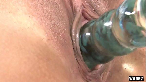WANKZ- Alliyah Sky Uses Her Glass Dildo Thumb