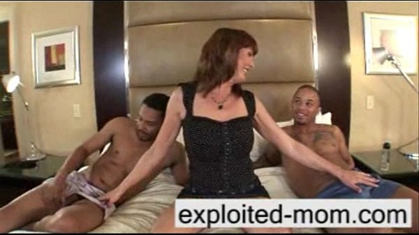 Busty milf takes 2 big black cocks at once in Interracial Threesome Video Thumb