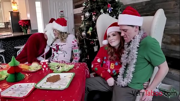 Family Gangbang For Christmas Breakfast- Summer Hart & Charlotte Sins