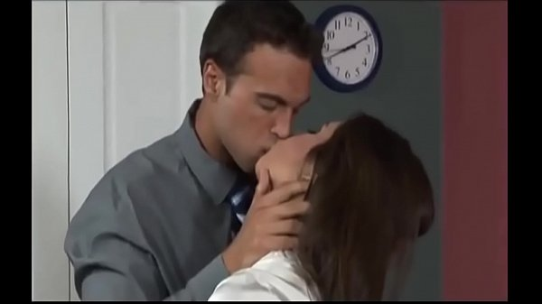 Sexy French Kissing Between Boss And Employee At The Office