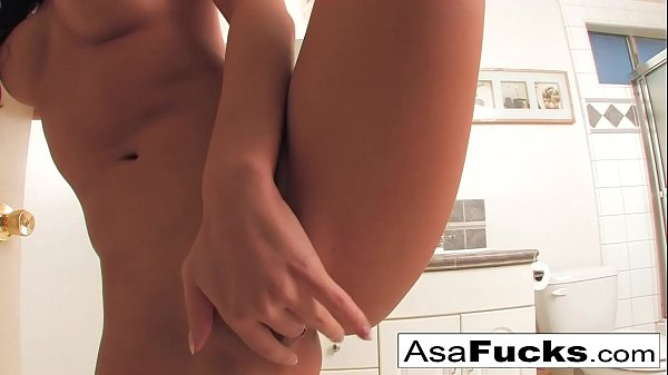 Asa Akira sets up two cameras for you to see her get nice and horny Thumb