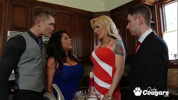 Fallon West and Zoey Portland Wife Swap At A Dinner Party