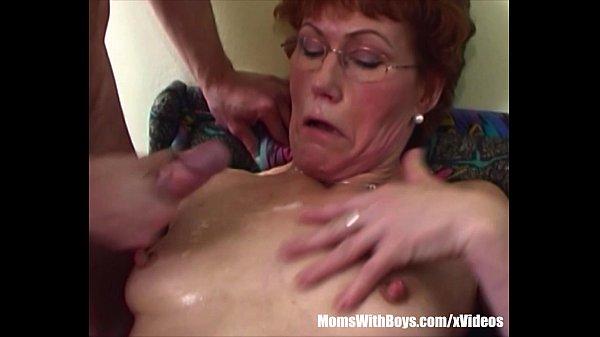 Redhead Stepma Breasts Cum Showered