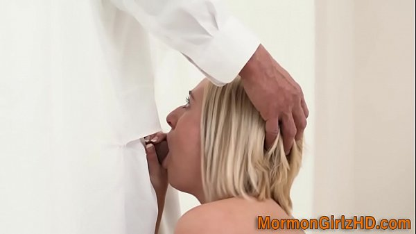 Blonde missionary sucks Thumb