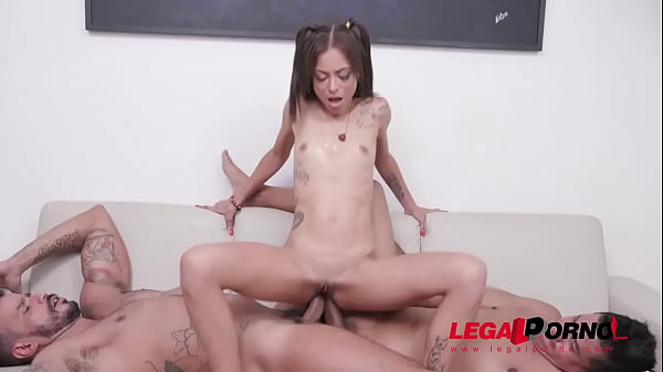 Hot schoolgirl Polly Petrova prepares her ass with self fisting for DAP and DP with 3 huge cocks YE080