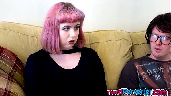 Chubby British Skank Sucks Nerds Dong