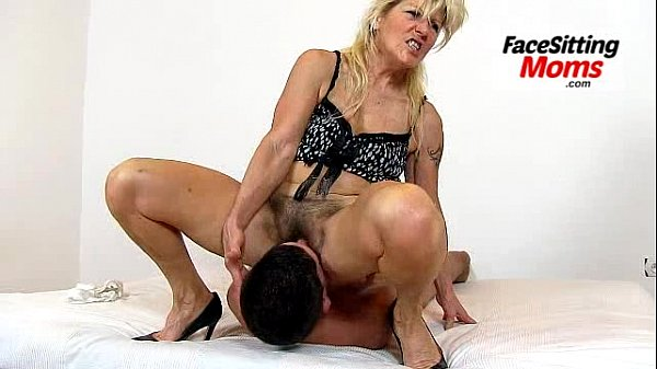 A boy is licking pussy of grandma Vera during face sitting Thumb