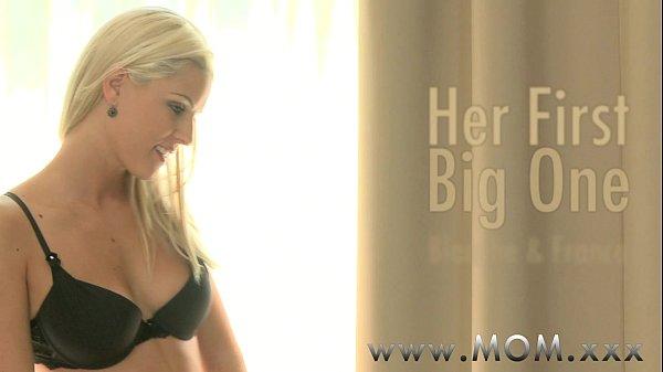 MOM Blonde MILF loves his Big Cock