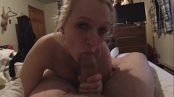 Sexy busty girl loves sucking your cock. Sexy dirty talking blowjob Cum in mouth