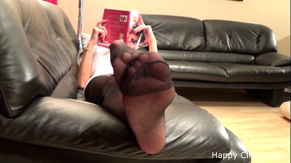 Mature stocking feetplay Thumb