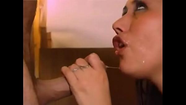Shaved pussy fucking machine intense orgasm