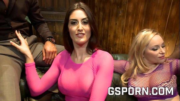 The big tits milfs Aiden Starr & Sara Class in hot orgy