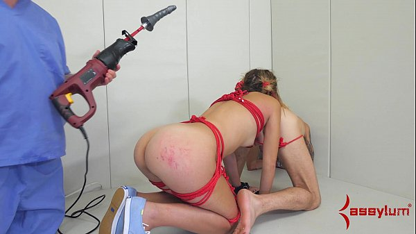 Teen Ass Slave Drilled Hard While Rimming
