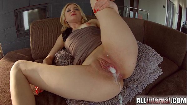 All Internal Threesome with double creampie for blonde newbie Thumb