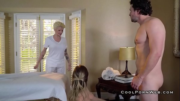 Dirty masseur fucking olied babe during massage Thumb