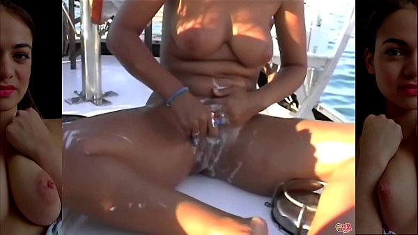 Fucking on the yacht with three friends