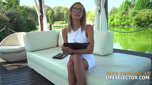 Elegant MILF therapist squirts while fucking POV Thumb
