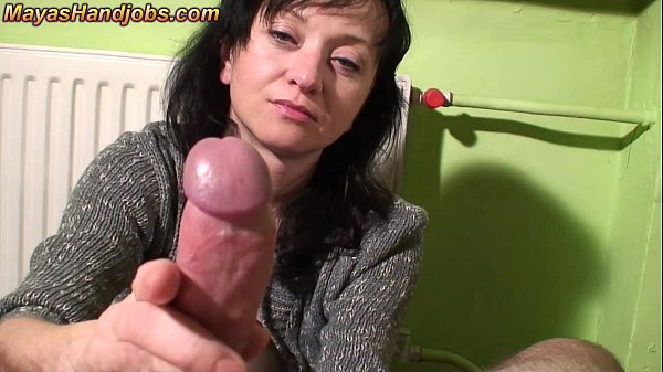 3 cumshots on Maya clothes legs and face