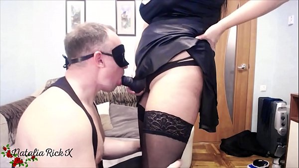 Guy Sucking Strapon before Dominatrix Ass Fuck Him Thumb